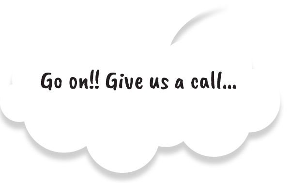 Go on Give Us A Call on a Speech Bubble