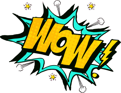 Pop Art Sign saying WOW