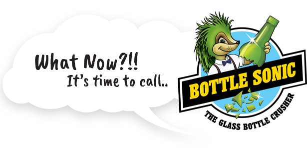Speech Bubble saying What Now? Call Bottle Sonic