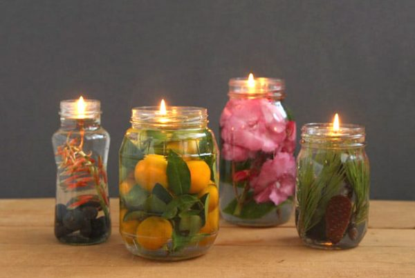 Mason Glass Jar Decorations