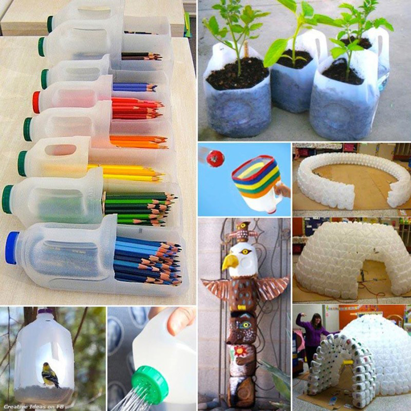 Creative Ways to Re-use Plastic Bottles